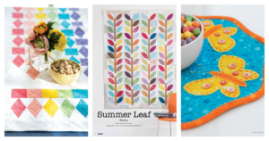 summer quilts header image with an array of summer quilts featured