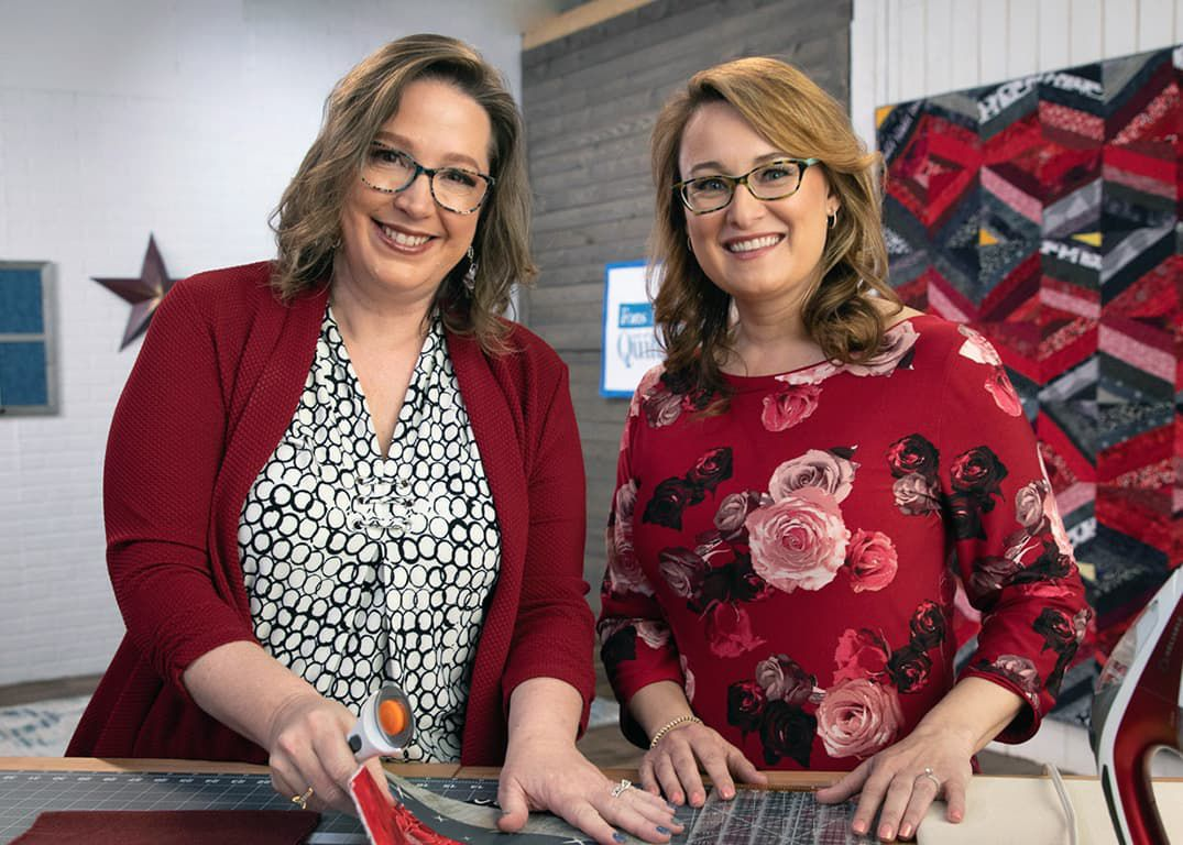 Hosts of Love of Quilting TV Series 3800 Angela Huffman and Sara Gallegos