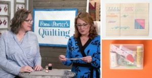 Love of Quilting Top Tips header featuring image of the hosts of Love of Quilting TV and a couple of the tips highlighted
