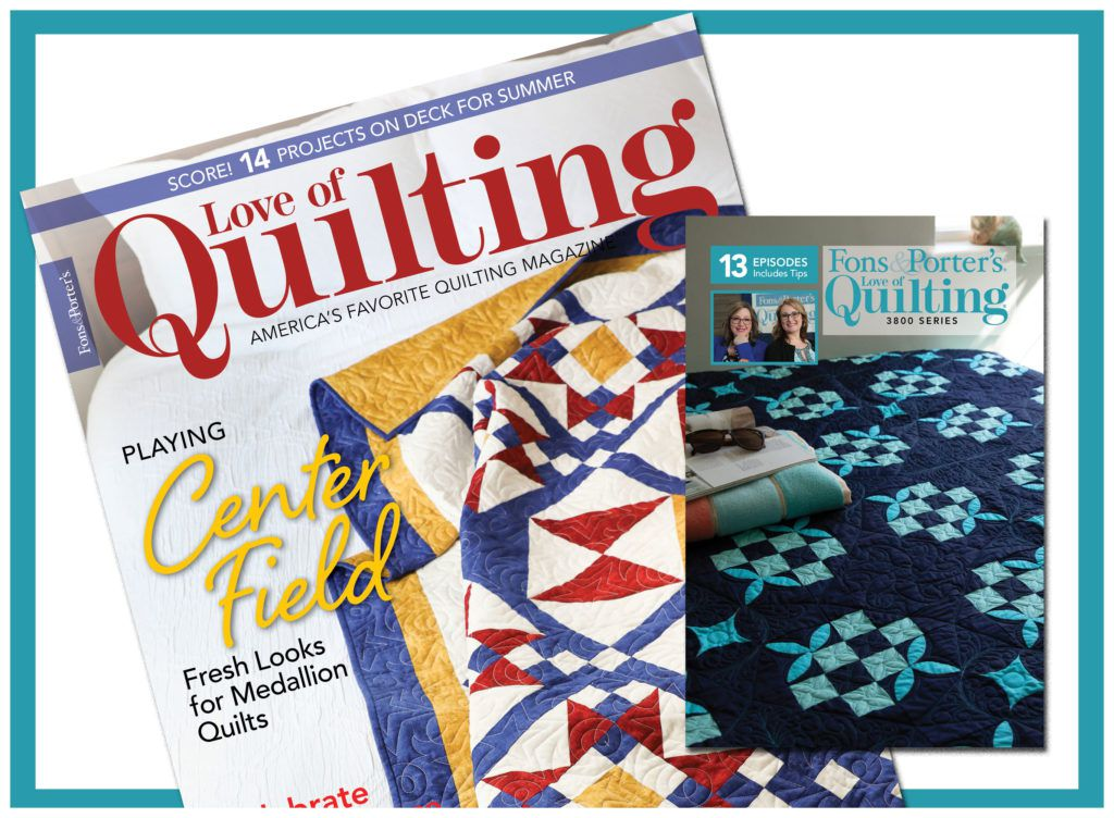 Love of Quilting 3800 subscription offer image - stack of current magazines