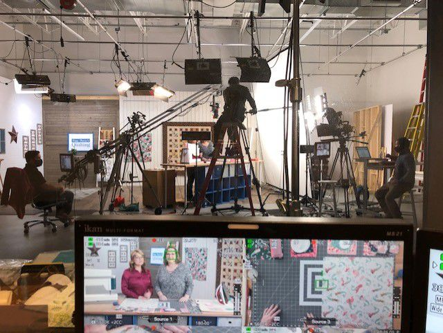 Love of Quilting TV Series 3800 behind the scenes shot
