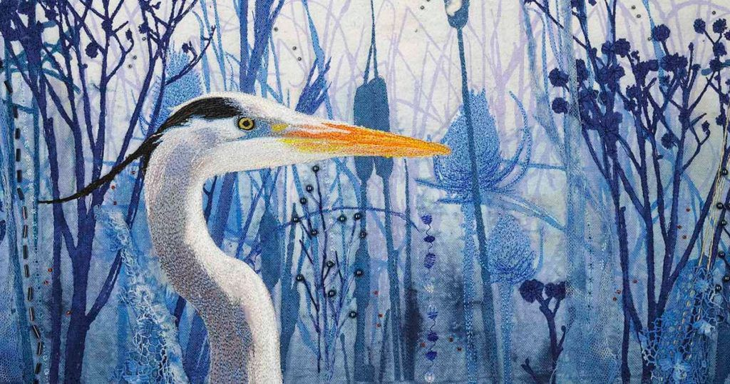"""""""Big Blue"""" (detail) by Sue King."""